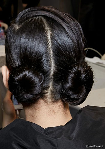 loreal double bun model vero beach hair salon